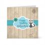 Κάρτα για Παιδικό Πάρτι Σύννεφο Γατάκι