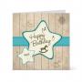 Κάρτα για τα Πρώτα Γενέθλια με Αστέρι