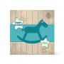Παιδική Κάρτα Γενεθλίων, Αλογάκι σε Ξύλινο Φόντο