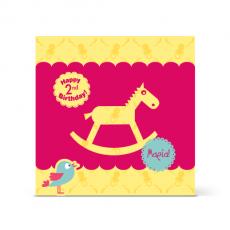 Κάρτα Γενεθλίων, Αλογάκι, για Κορίτσια 2 Ετών