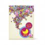 Κάρτα Δώρο για το Νεογέννητο με Χρωματιστά Λουλούδια