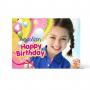 Πρόσκληση για Πάρτι για Κορίτσια, Χρωματιστά Μπαλόνια