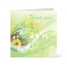 Πράσινη Κάρτα Ευχαριστώ Λουλούδια