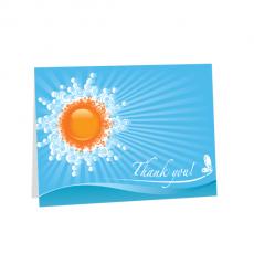 Κάρτα Ευχαριστώ με Ήλιο