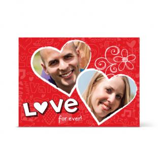 Κάρτα για Ερωτευμένους με Καρδούλες