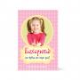 Ευχαριστήρια κάρτα Ροζ με Μπαλόνια