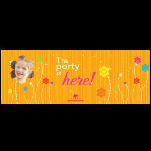 Banner για Πάρτι Λουλούδια