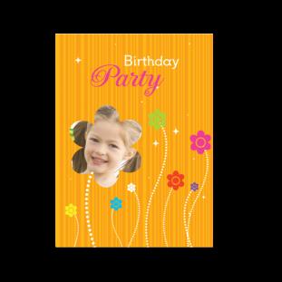 Κάρτα Γενεθλίων Λουλούδια