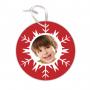 Κοκκινο στολίδι για το Χριστουγεννιάτικο Δέντρο με φωτογραφία